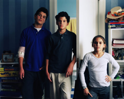 Charlotte, Louis and Arthur, New York 2001