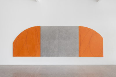 Orange/ Gray Four Panel Zone Painting