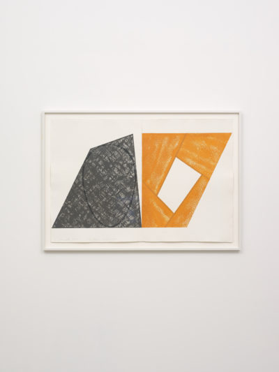 Gray Ellipse / Orange Frame